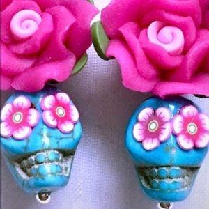 Beautiful sugar skull earrings!